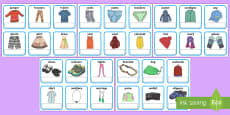 EAL Clothes Cards with English
