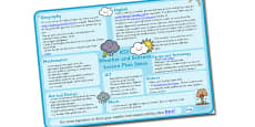 Weather and Seasons Lesson Plan Ideas KS2