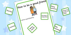 How To Be A Good Friend Activity