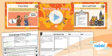 Time Travel: The Great Fire of London: Story Writing 5 Y1 Lesson Pack