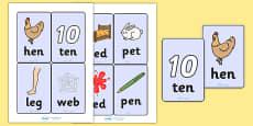 CVC Word Cards (e)