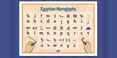 Egyptians Hieroglyphs Word Mat