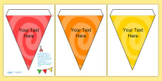 Editable Patterned Bunting Swirl