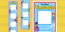 Superhero Themed Vertical Visual Timetable Display