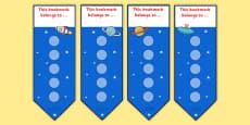 Space Small Sticker Reward Bookmarks