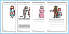 Little Red Riding Hood Writing Frames