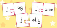 Australia - j and Vowel Production Jigsaw Cut Outs