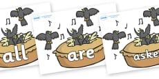 Tricky Words on Blackbirds in a Pie