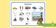 City Noise Word Mat