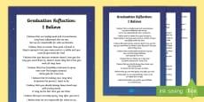 Graduation Reflection Poem