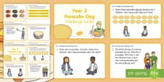 Year 2 Pancake Day Maths Challenge Cards