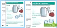 Make it Rain: Precipitation Experiment Resource Pack