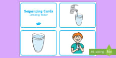 3 Steps Sequencing Cards Drinking Water Activity