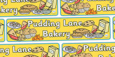 Pudding Lane Bakery Display Banner