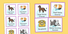 Pet Groomers Role Play Badges