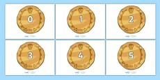 Numbers 0-31 on Pirate Coins