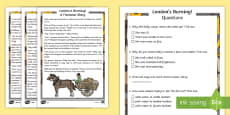 * NEW * KS1 London's Burning! Fiction Differentiated Reading Comprehension Activity