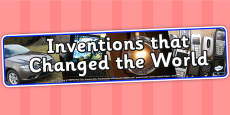 Inventions That Changed the World Photo Display Banner