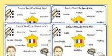 Louis Braille Word Mat