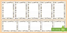 Wild West Page Borders