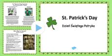 St. Patrick's Day Informative PowerPoint Polish Translation