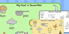 Final 'N' Sound Word Mat 2
