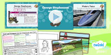PlanIt - History KS1 - Travel and Transport Lesson 4: George Stephenson and Trains Lesson Pack