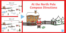 KS1 North Pole Christmas Directions PowerPoint
