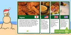 Christmas Food Around the World A4 Display Poster