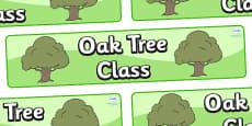 Oak Tree Themed Classroom Display Banner