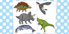 Australia - Realistic Dinosaurs Stick Puppets 1-10