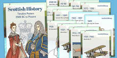 Scottish History Timeline Display Posters