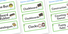 Redwood Themed Editable Additional Classroom Resource Labels