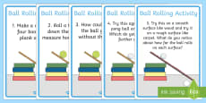 Ball Rolling Experiment Instructions