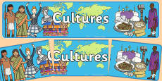 Cultures Display Banner