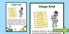 Design Brief Display Poster