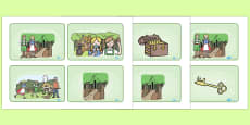 Hansel and Gretel Story Visual Aids (4 per A4)
