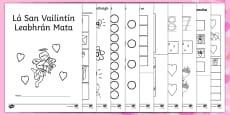 Lá San Vailintín Maths Activity Booklet Gaeilge