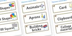 Lark Themed Editable Classroom Resource Labels