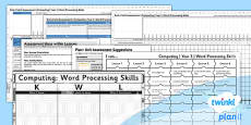 PlanIt - Computing Year 3 - Word Processing Skills Unit Assessment Pack