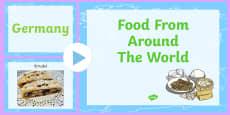 Food From Around The World PowerPoint German