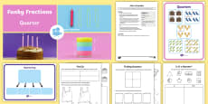KS1 Fractions: Quarters Video, Teaching Ideas and Activity Pack