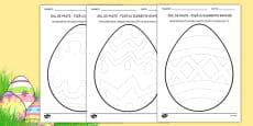 Elemente grafice pe ouă de Paște - Grafisme