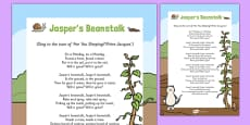 Rhyme to Support Teaching on Jasper's Beanstalk