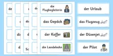 Holiday Travel Topic Words German