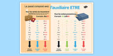 French Perfect Tense with ETRE Classroom Display Poster
