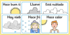 Weather Display Posters Spanish