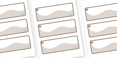 Squirrel Themed Editable Drawer-Peg-Name Labels (Colourful)
