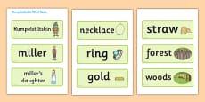 Rumpelstiltskin Word Cards
