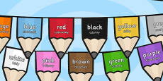 Colours on Pencil Bunting Polish Translation